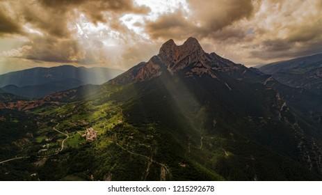 Pedraforca cloud mountain