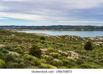 The Pedrera water reservoir near Santa Pola, Alicante. Spain. River Segura. - Shutterstock ID 1986758873