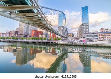 The Pedro Arrupe footbridge is a modern bridge crossing the Nervion Bridge in Bilbao, Basque Country, Spain.