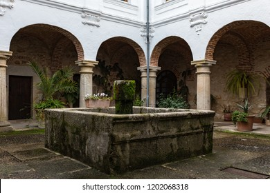 Pedroso de Acim, Spain. - January 21, 2013:  Cloister in the convent of El Palancar. Extremadura. Spain.