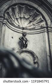 Peeing boy in Brussels