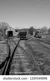 A peek into the past. A 1900s coal yard scene.