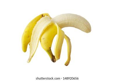 peel banana isolate