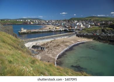 Peel bay in the Isle of Man