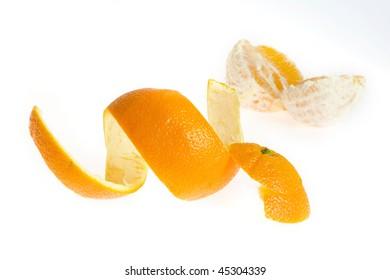 Peel of orange, isolated on white