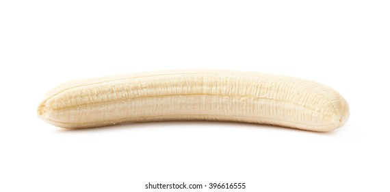 Peeled banana fruit isolated