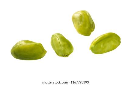 peeled green pistachio