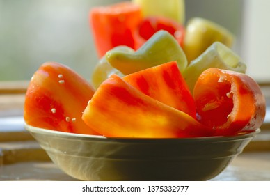 peeled lettuce in a plate on a blurred background. Cooking food.