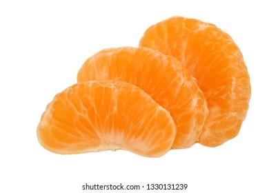 Peeled mandarin segments