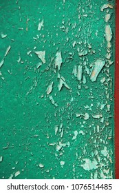peeled off green paint