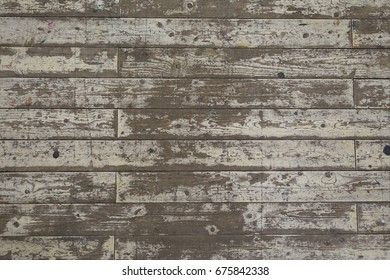 Peeled Paint Chipped Cracked White Wooden Floor Planks Texture Background