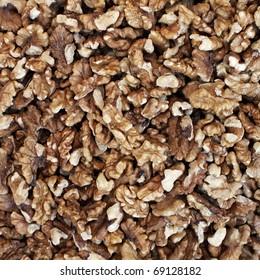 peeled walnuts closeup, natural background