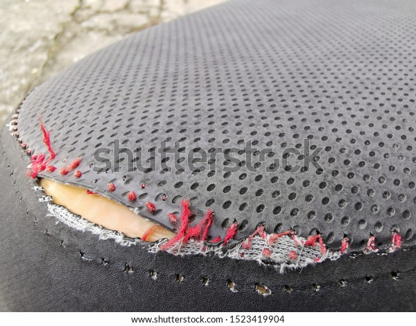 Astonishing Peeling Faux Leather Couch Closeup Damaged Stock Photo Edit Creativecarmelina Interior Chair Design Creativecarmelinacom
