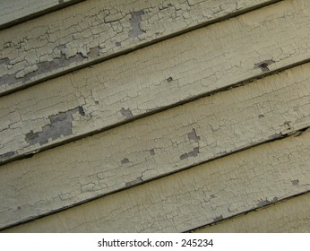 peeling house paint