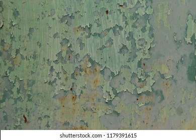 Peeling paint color engender rusted, Texture metal with abrasion