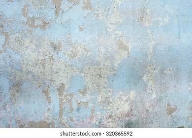 Peeling paint concrete wall texture background.
