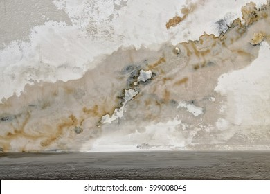 Peeling paint, indicating damp on the  wall - water Leaks