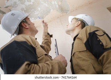 peeling paint on an interior ceiling