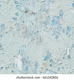 Peeling paint on wall seamless texture. Seamless texture close up