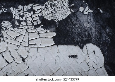 Peeling paint surface background of old wall  Pattern of rustic White grunge material on wall seamless texture.