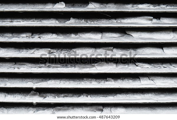 Peeling Silver Paint On Metal Grill Stock Photo Edit Now