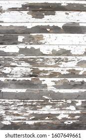 Peeling White Paint on Aged Wood Panels Background Texture