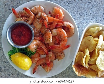 Peel'n Eat Shrimp with Kettle Chips