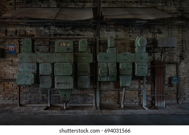 PEENEMUENDE, GERMANY - JULY 18, 2017: Abandoned production workshops. Army Research Center. During the World War II, the area was highly involved in the development and production of the V-2 rocket.