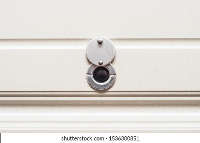 Peephole of the front door to control incoming people. Convex peephole lens for better visibility.
