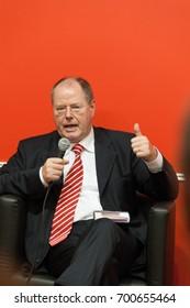 Peer Steinbrück, german politician (SPD), at the Frankfurt Bookfair / Buchmesse Frankfurt 2010 in Frankfurt am Main, Germany