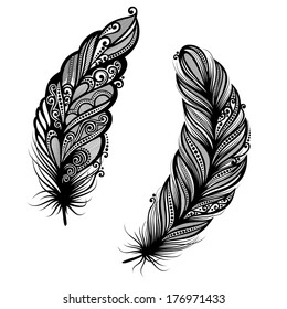 Peerless Decorative Feather, Patterned design, Tattoo