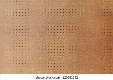 Peg board with large area, shot square to image dimension.