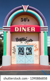 Peggy Sue's 50's diner in Yermo, California, USA. September 12th 2016