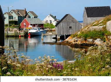 Peggy's Cove, Nova Scotia in summer.