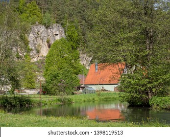 Pegnitz Valley in the Franconian Switzerland Germany