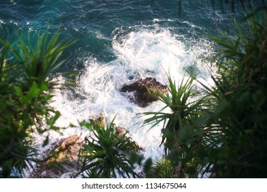 Peguyangan waterfall rocks. Nusa Penida.