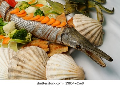 Pejelagarto roasted is a dish typical of the Mexican southeast.Your Spanish name for the large freshwater gar very common in the Mexican Southeast and particularly in the state of Tabasco.