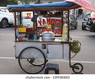 Pekalongan/Indonesia - May16, 2019 : Indonesian Street Food : siomay merchant cart in Pekalongan city
