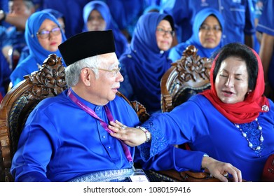 PEKAN, MALAYSIA - APRIL 28 : Prime minister Mohd Najib Abdul Razak during nomination day on April 28, 2018 in Pekan, Pahang, Malaysia. He dissolved parliament on April 7th for 14th general election.