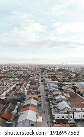 Pekanbaru, Indonesia, 2018, The landscape of beautiful houses in the village