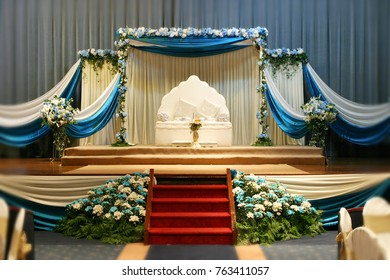 Pelamin or bridal bed for Malay wedding in Malaysia