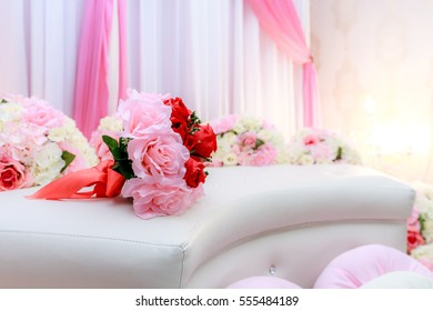 The pelamin or wedding dais is specially created in a traditional Malay wedding.It is usually grandly designed and gaily decorated, to create some symbolism of a king and queen sitting in state.