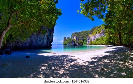Pelay beach at Koh Hong in the Andaman Sea, Krabi province, Thailand