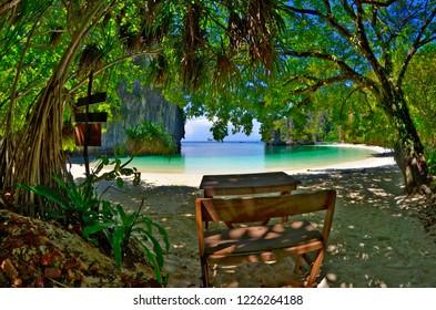 Pelay Beach on Koh Hong in the Andaman Sea, Krabi province, Thailand