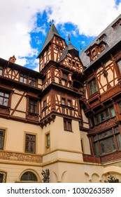 Peles Castle, a Neo-Renaissance castle in the Carpathian Mountains, Sinaia, Prahova County, Romania