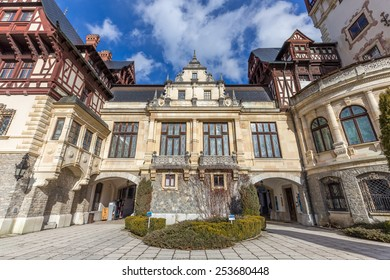 Peles Castle is a a Neo-Renaissance palace located in the Carpathian Mountains, near Sinaia, in Prahova County, Romania and built between 1873 and 1914. Its inauguration was held in 1883.