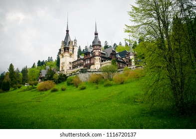 Peles castle is one of the most important and beautiful monuments in Europe. Peles castle, Sinaia, Romania.