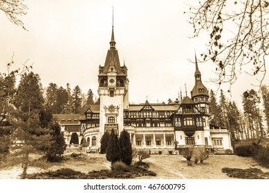 Peles Castle in Romania, Sinaia,
