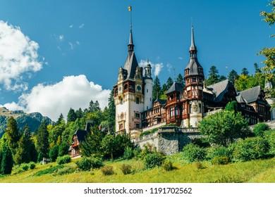 Peles Palace In Sinaia City Of Romania