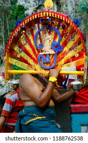 Pelgrim during ceremony of  thaipusam festival, at Batu cave, Kuala Lumpur, Malaysia